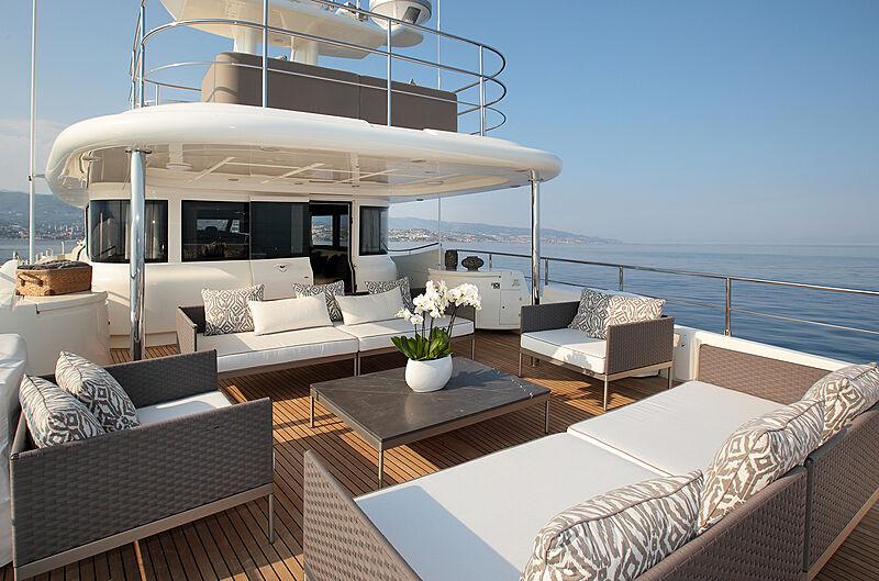Lady Soul yacht upper deck