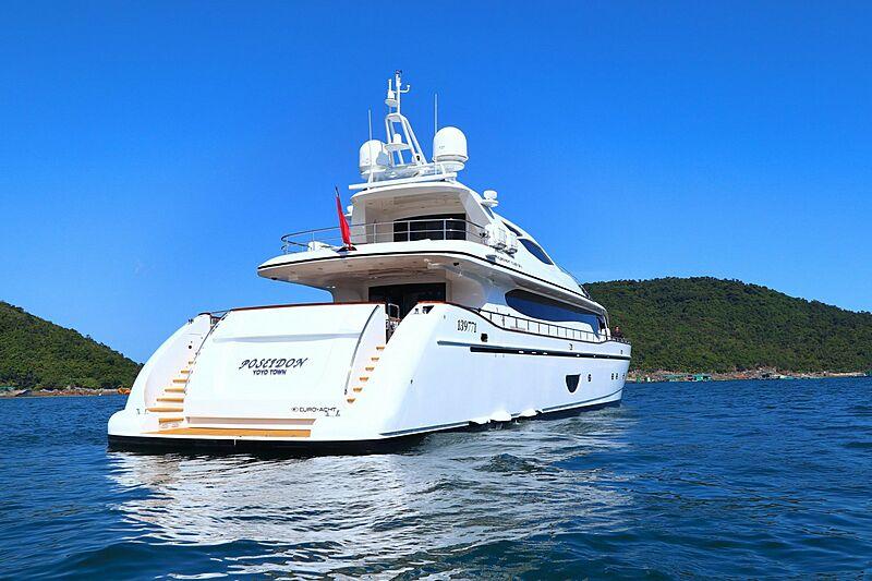 Poseidon yacht anchored