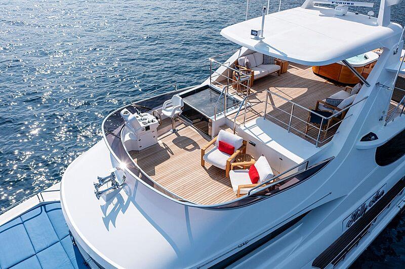 Kelly Ann yacht flybridge