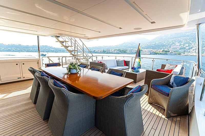Kelly Ann yacht upper deck