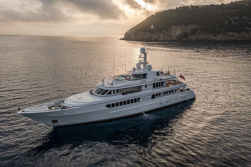 Gitana yacht anchored