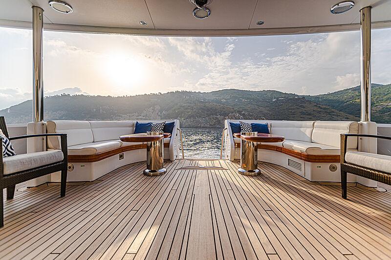 Gitana yacht upper deck