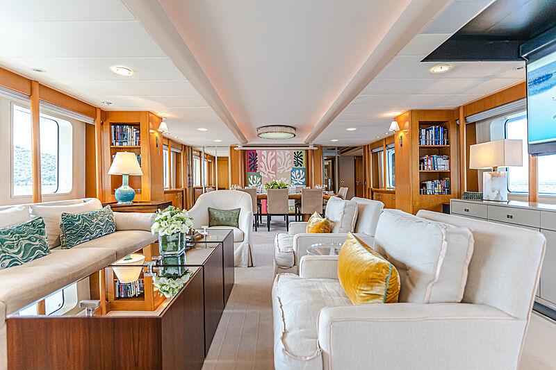 Gitana yacht saloon