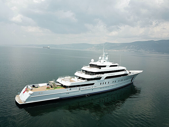 Victorious yacht sea trials