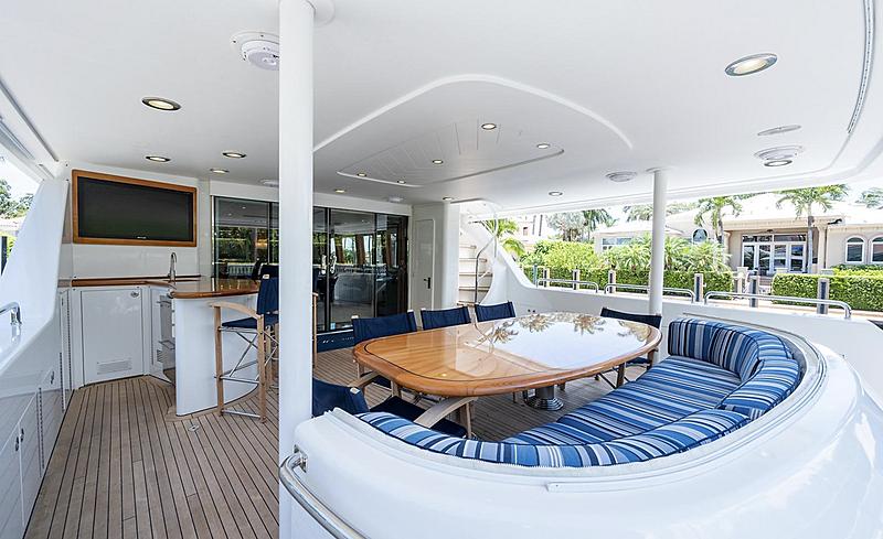 My Tammera yacht aft deck