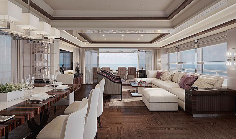 Heysea Asteria 116/2 yacht  interior