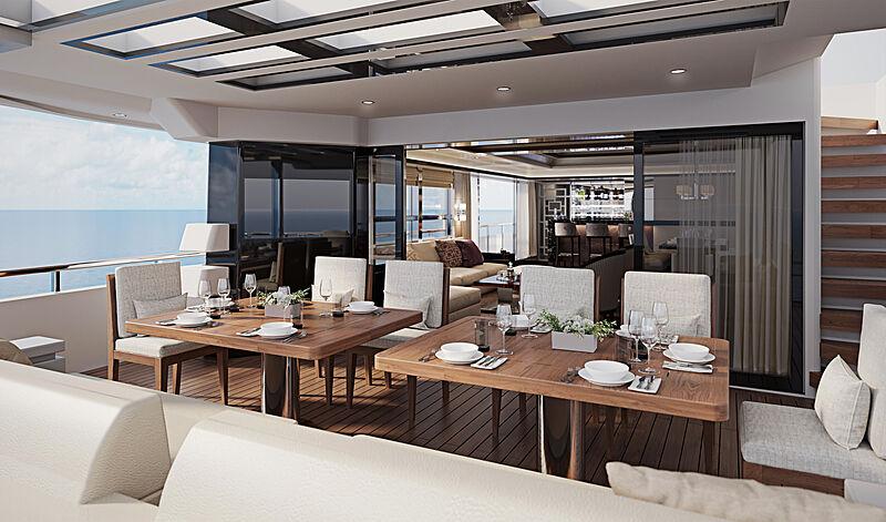 Heysea Asteria 116/2 yacht saloon