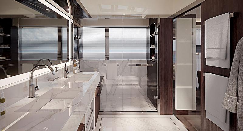 Heysea Asteria 116/2 yacht bathroom