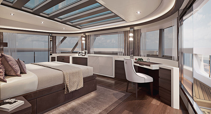 Heysea Asteria 116/2 yacht stateroom