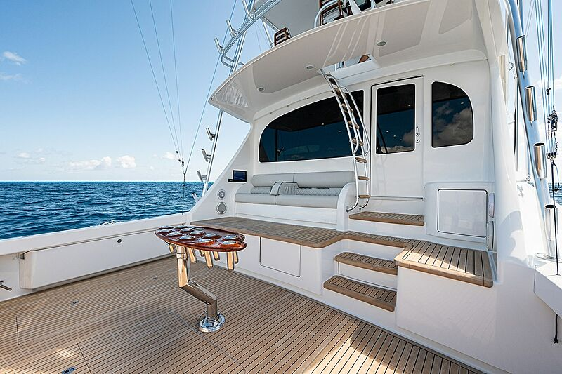 Ghost yacht aft deck