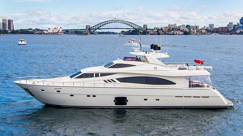 Ferretti 881 yacht KL in Sydney