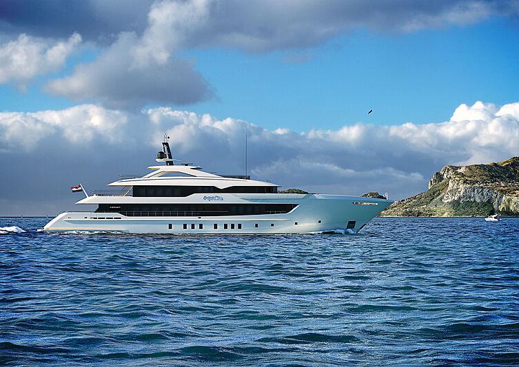 Project Apollo yacht exterior design