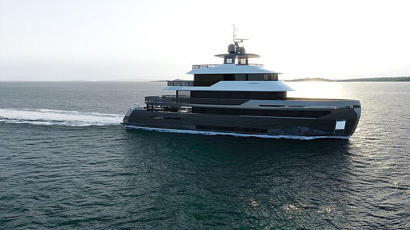 Benetti B.yond yacht exterior render