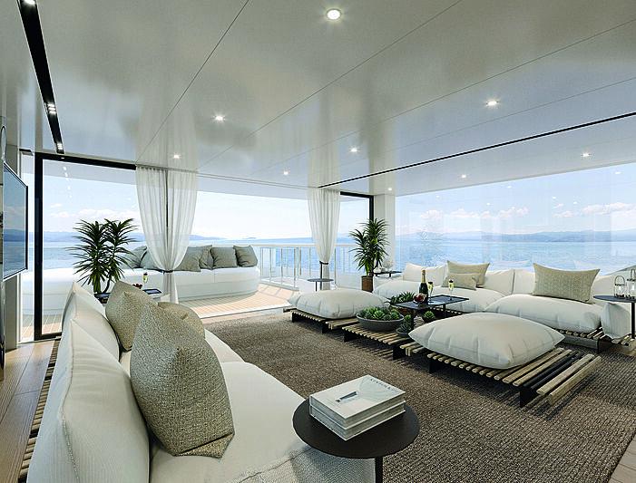 Benetti B.yond yacht interior