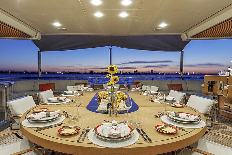 Atomic yacht aft deck