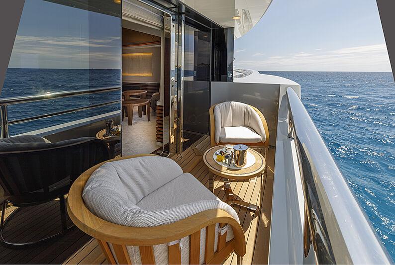 Atomic yacht balcony