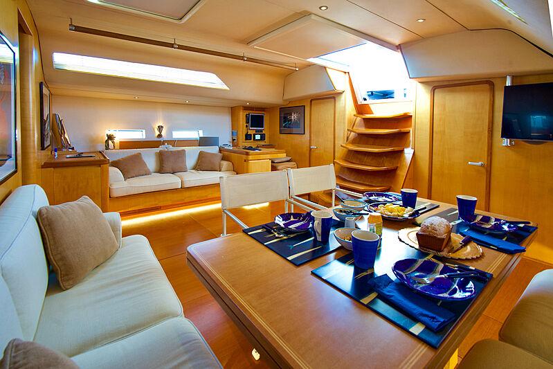 Magic Blue yacht saloon