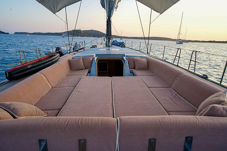 Magic Blue yacht deck