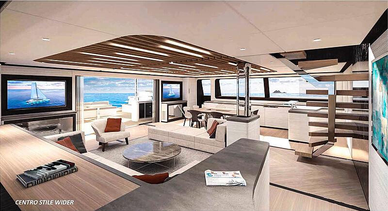 Wider-Pajot Eco Yacht 145 interior