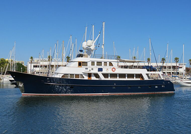 Kuriakos yacht in Lagos marina