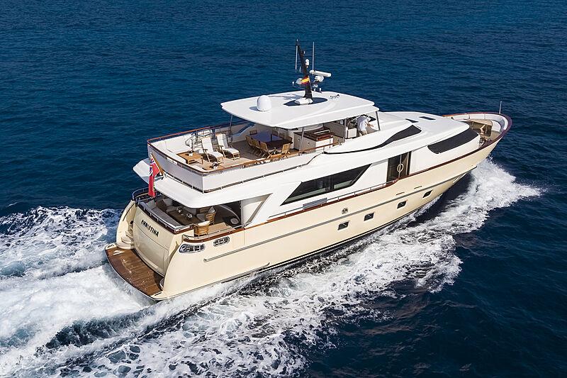 Christina yacht cruising
