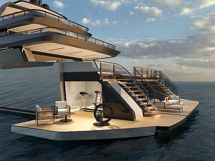 ISA Zeffiro 130 yacht concept exterior design