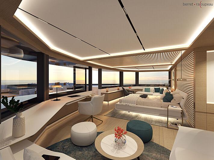 ISA Zeffiro 130 yacht concept interior design
