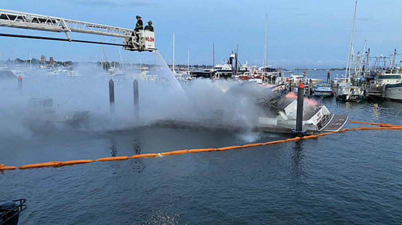 Miss Dunia yacht fire