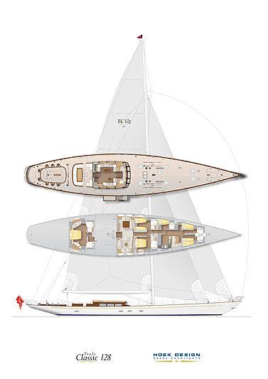 Grace III yacht general arrangement