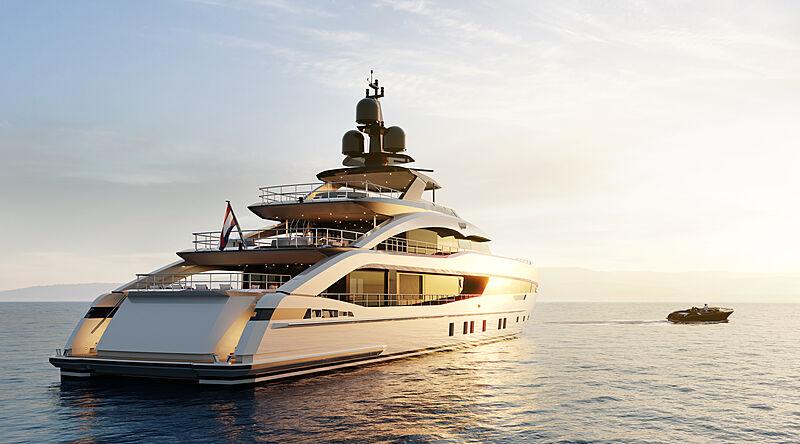 Project Sapphire yacht exterior design