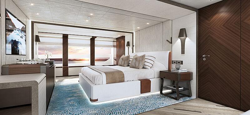 Project Sapphire yacht interior design