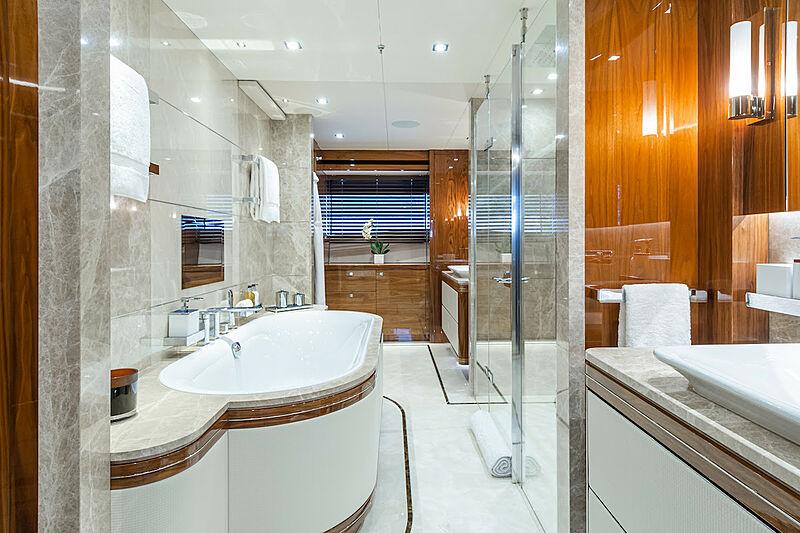 Princess AVK yacht bathroom