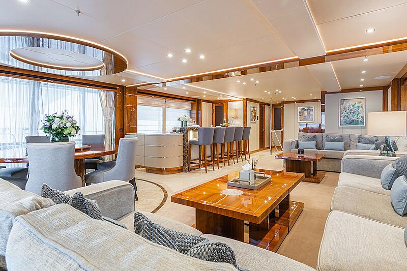 Princess AVK yacht saloon
