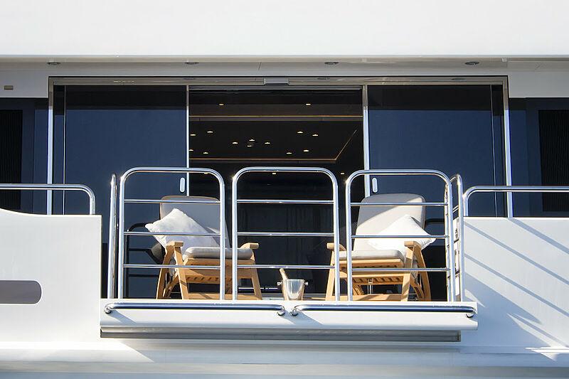 Princess AVK yacht owners balcony
