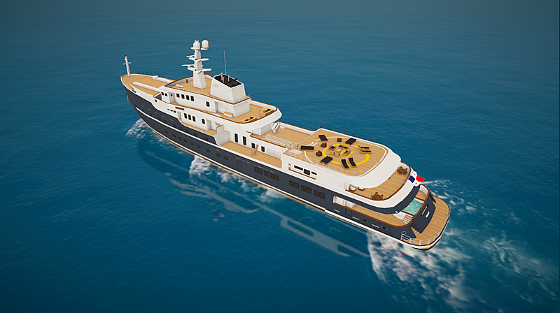 Legend yacht in SYT 3D