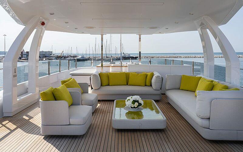 Adelia yacht upper deck