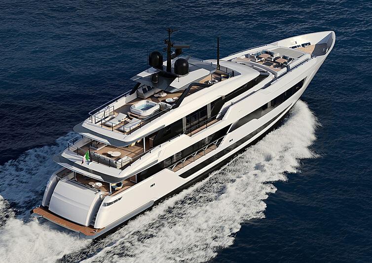 Custom Line 140 yacht exterior design