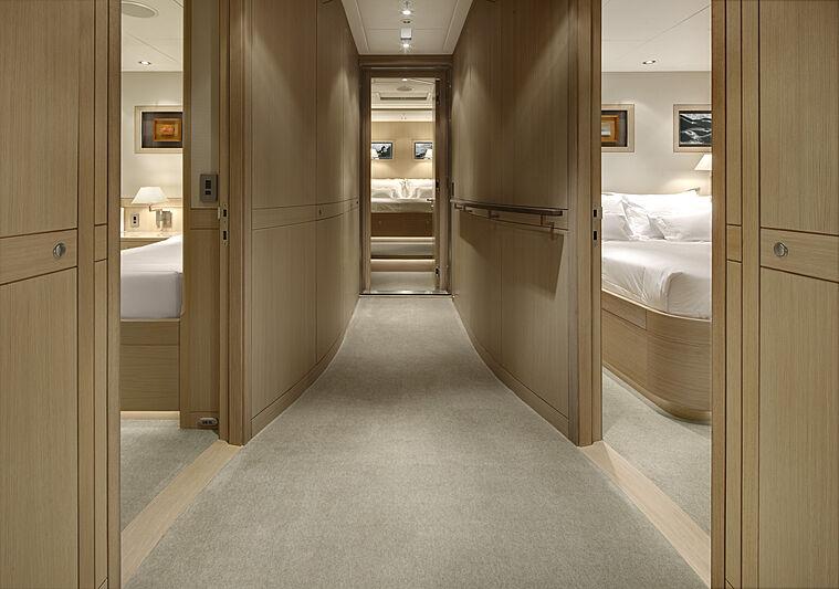 Imagine D yacht corridor