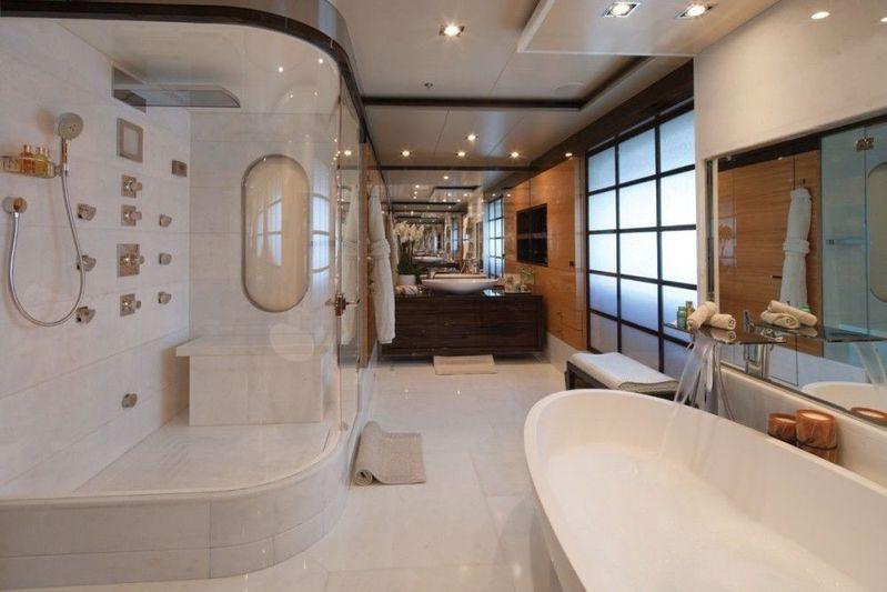 Swan owner's bathroom