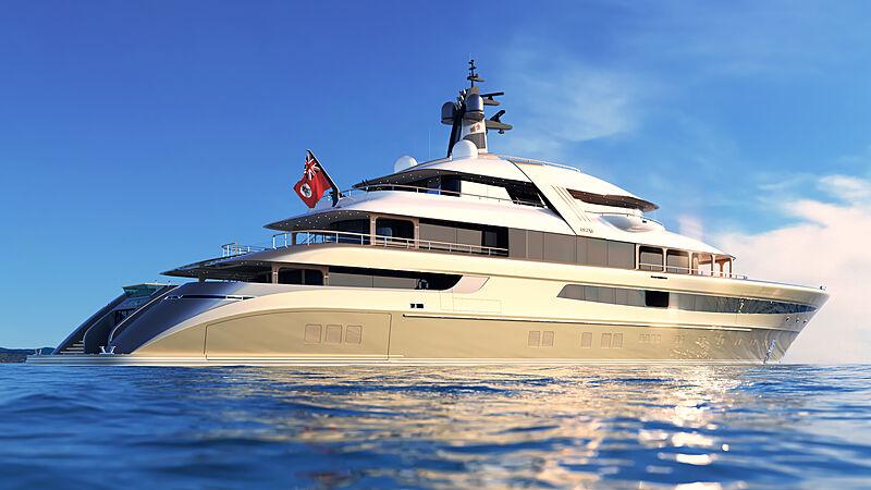 Piredda & Partners superyacht Ashera exterior renderings