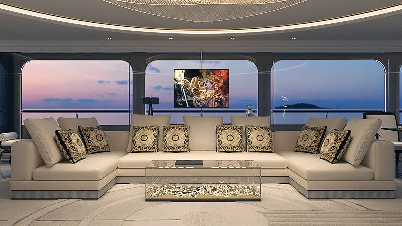 Piredda & Partners superyacht Ashera interior renderings