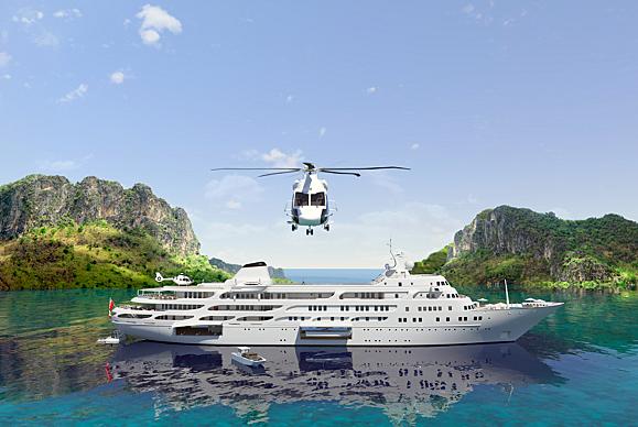 Project Y910 yacht conversion exterior design
