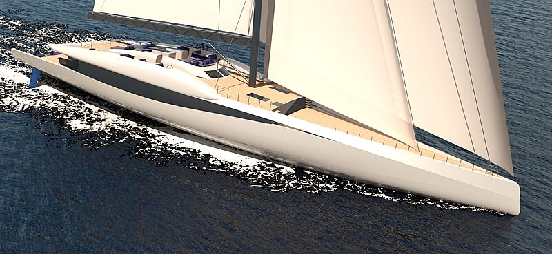 Fury 500 sailing yacht concept from Rob Doyle Design and Van Geest Design