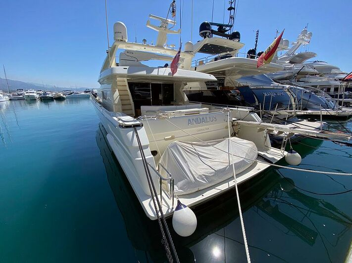 Andalus yacht in marina