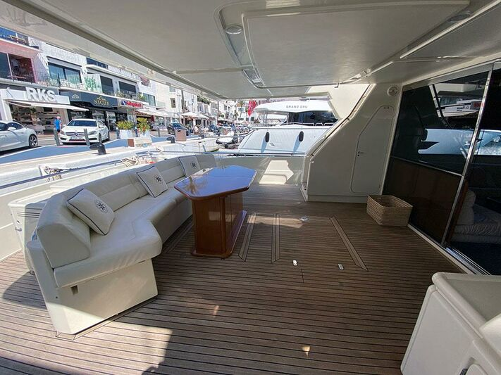 Andalus yacht aft deck