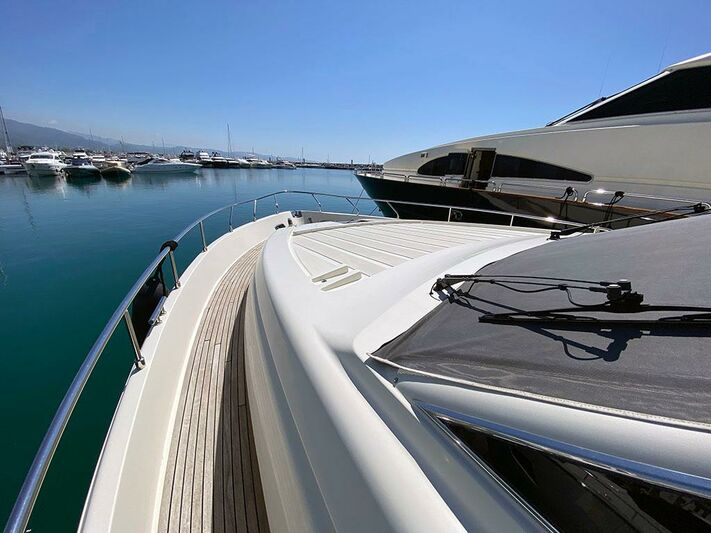 Andalus yacht foredeck