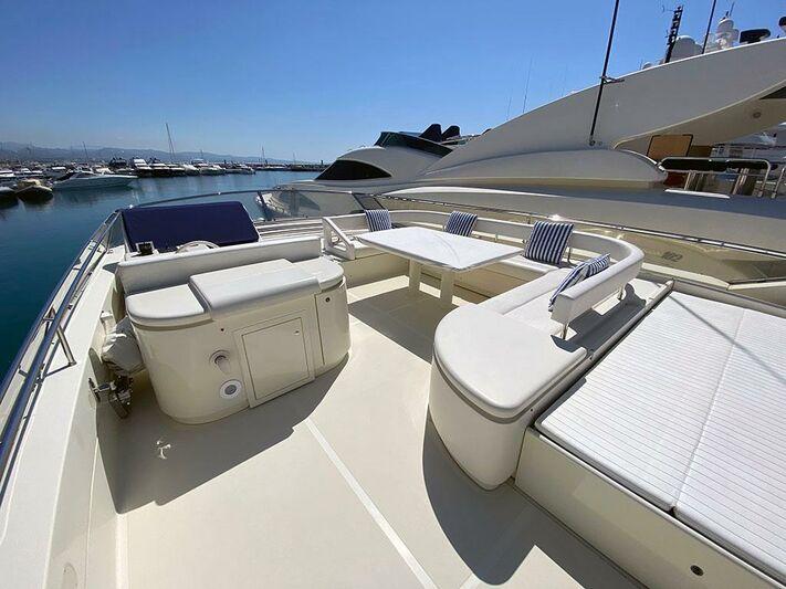 Andalus yacht flybridge