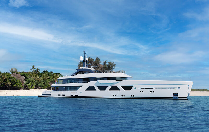 Amels 6003 yacht exterior design