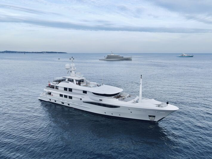 Grace yacht anchored in Cannes
