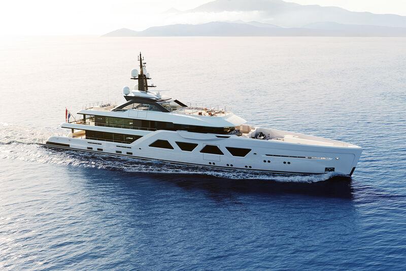 Amels 6005 yacht exterior design